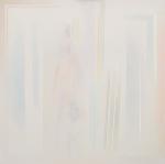 Apparire al centro con tre linee-luce, 2010, cm 95x95
