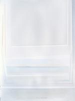 Frammenti orizzontali in bianco, 2012, cm 77x56, carta