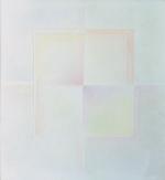 2 alternati giallo e rosa, 1968, cm 95x95, collezione Marucelli, Firenze